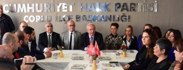 Başkan Albayrak Çorlu ve Ergene`de CHP ve Ak Parti İlçe ...