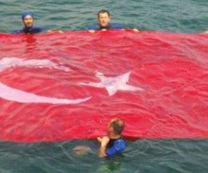 Marmara Denizinde Bayrak Açtılar
