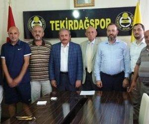 Ak Parti Kurmayları Tekirdağspor`u Ziyaret Etti