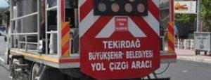 Malkara Atatürk Bulvarında Yol Çizgi Çalışması Yapıldı