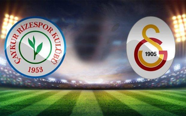 Çaykur Rizespor, Galatasaray Maçının Kadroları Belli Oldu