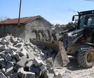 Kapaklı, Yeniağıl Mahallesinde Kilit Taşı Yol Yapım Çalışmaları ...