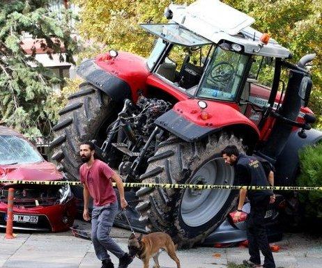 TBMM Yakınında Dur İhtarına Uymayan Traktöre ...