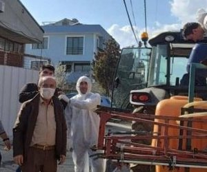 Kırsal Mahallelerde Ek Dezenfekte Çalışmaları Başladı